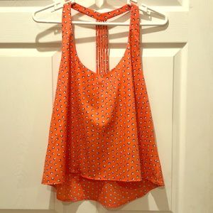 Coral Mid Drift Top